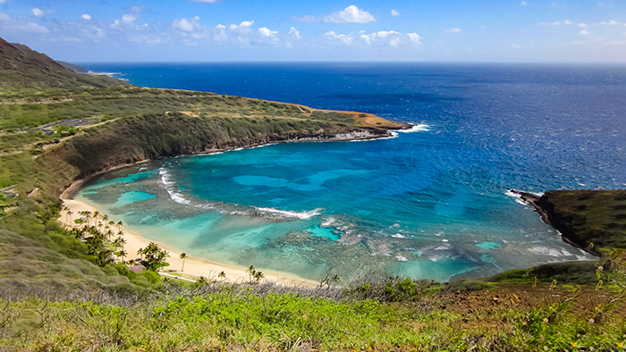View of Hanauma Bay.
