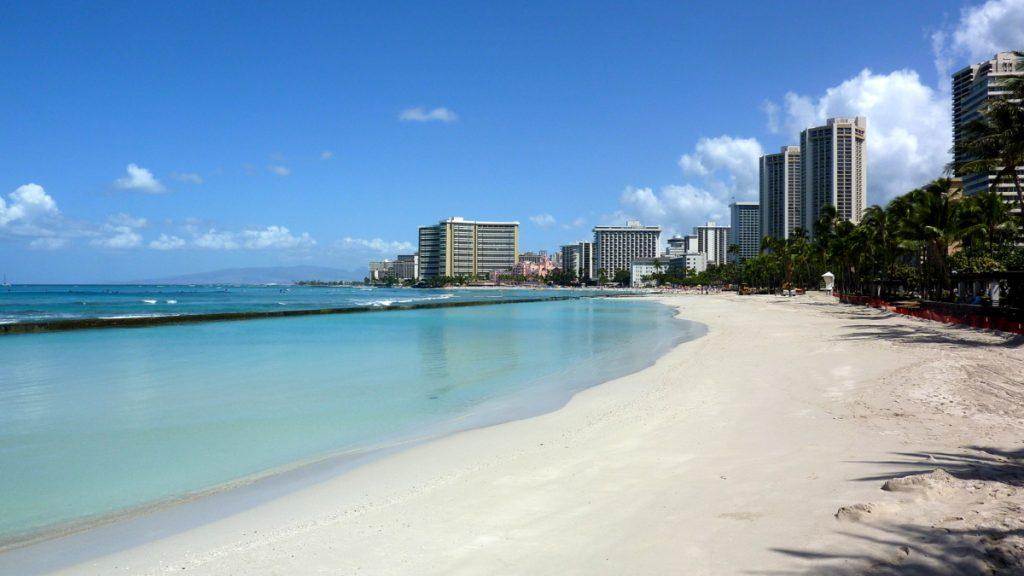 Waikiki Beach, a Hawaii hotspot.