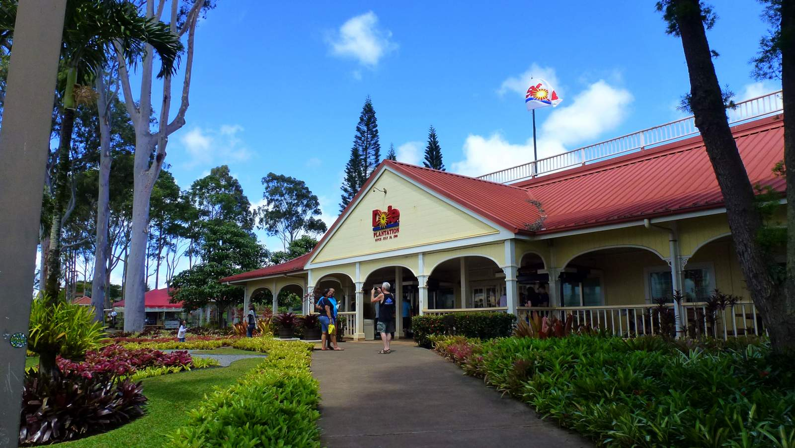 The Dole Plantation, one of the many things you can see driving on Oahu.