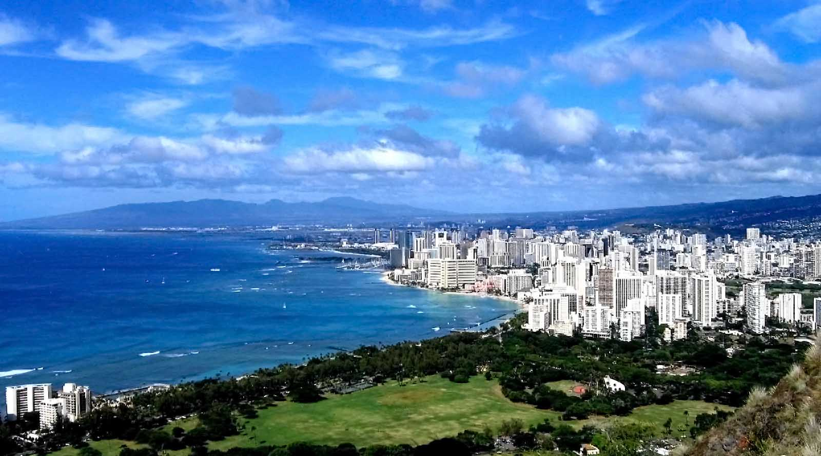 Hiking to Diamond Head, one of the things to do in Waikiki.